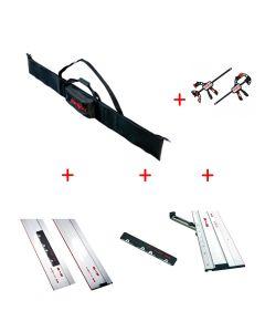 Mafell geleidingslinialentas set (F80, F160, koppelstuk, 2x schroefklem, verstek aanslag)