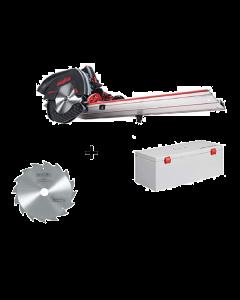 Accu-Afkort-zaagsysteem KSS 60 18M bl In transportkoffer + Mafell zaagblad hardmetaal 185mm Z16, WZ