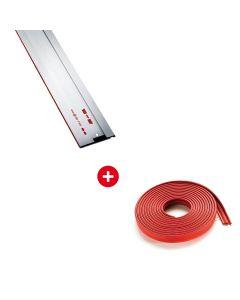 Mafell 2x geleidelinialen F160, 1,6m + 5x Mafell anti splinterstrip F-SS 3,4 m