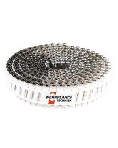 Nail screws op rol 2.8x30 RVS Plastic gebonden 15° (10800)